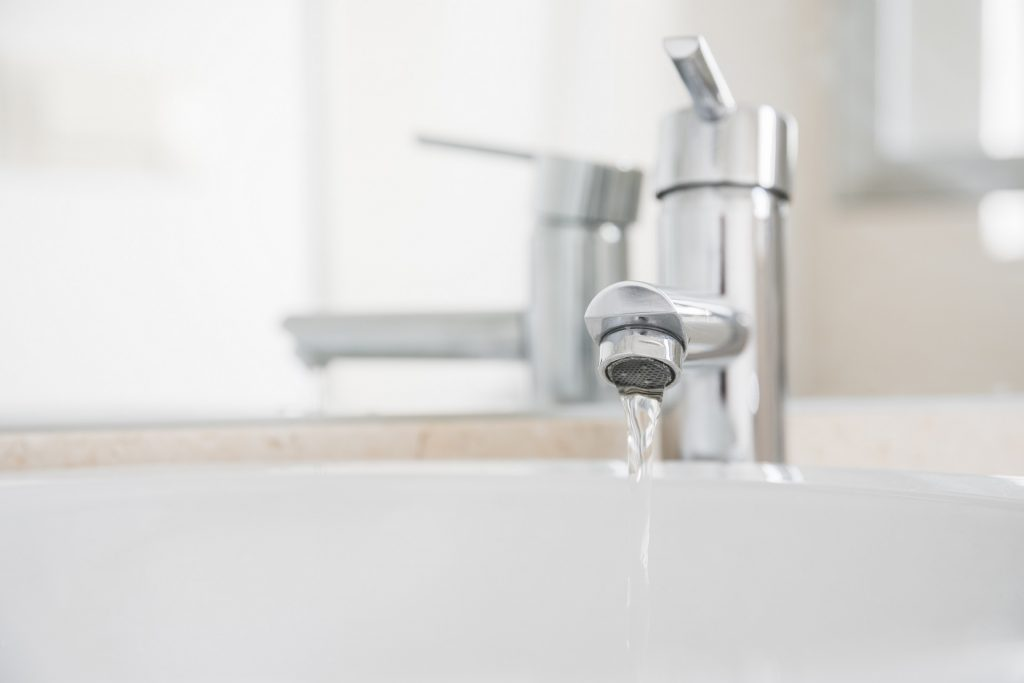 Faucet running with low water pressure