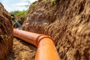 Residential sewer pipe that requires maintenance and repair