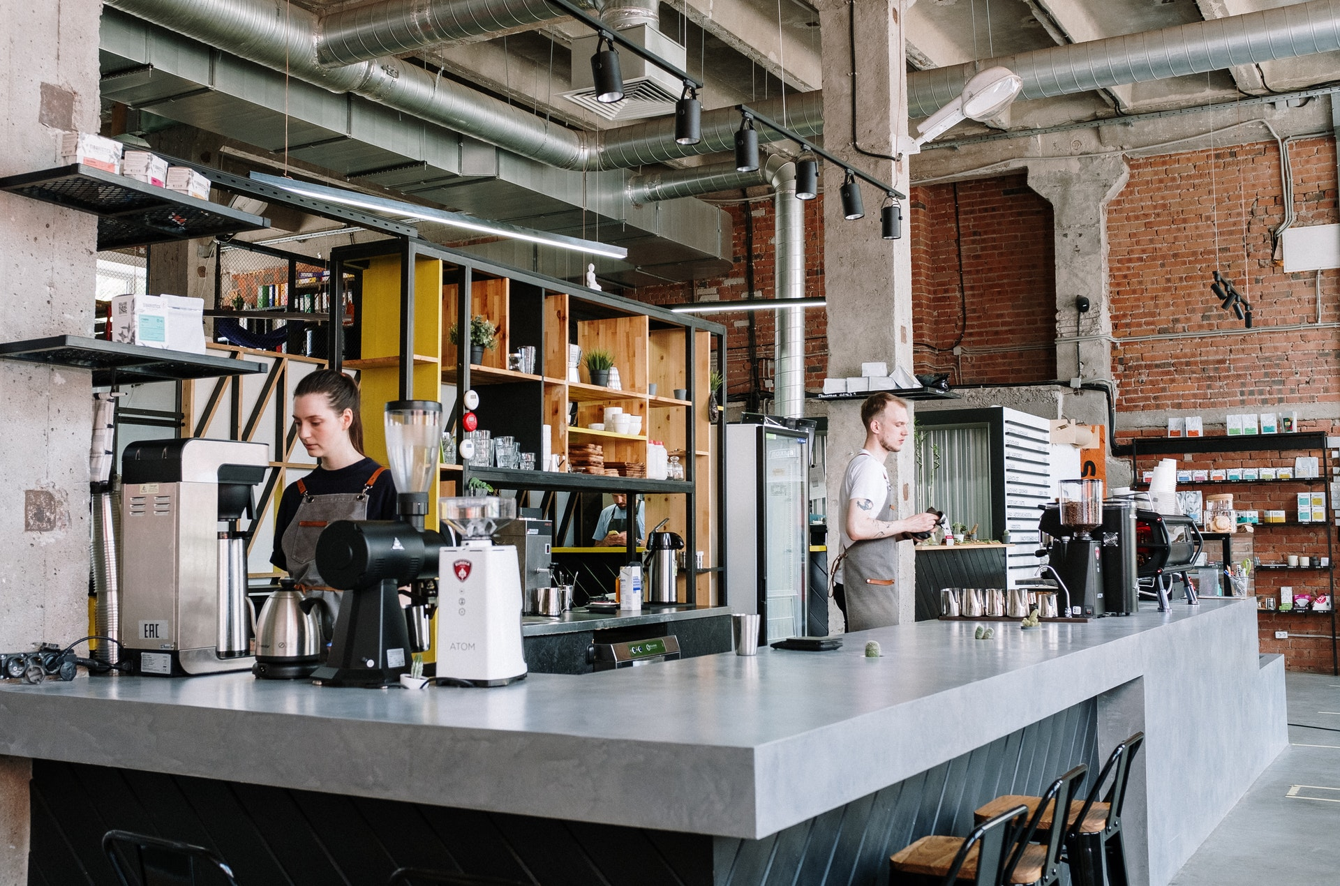Coffee shop business that has properly maintained drains